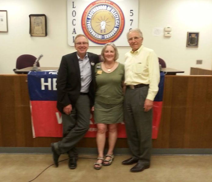 John Nichols, Pamela Powers Hannley, and Phil Lopes