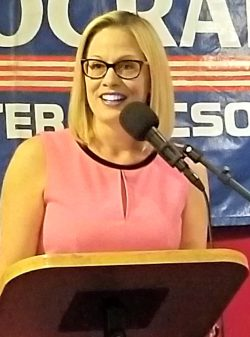 Congresswoman Kyrsten Sinema is running for US Senate.