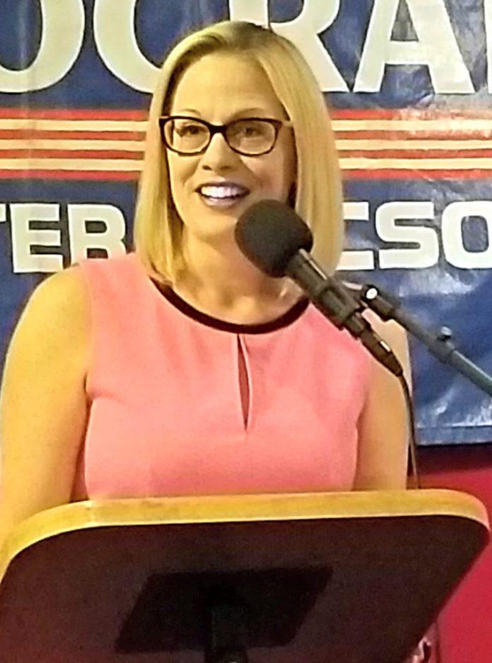 Congresswoman Kyrsten Sinema is running for US Senate.