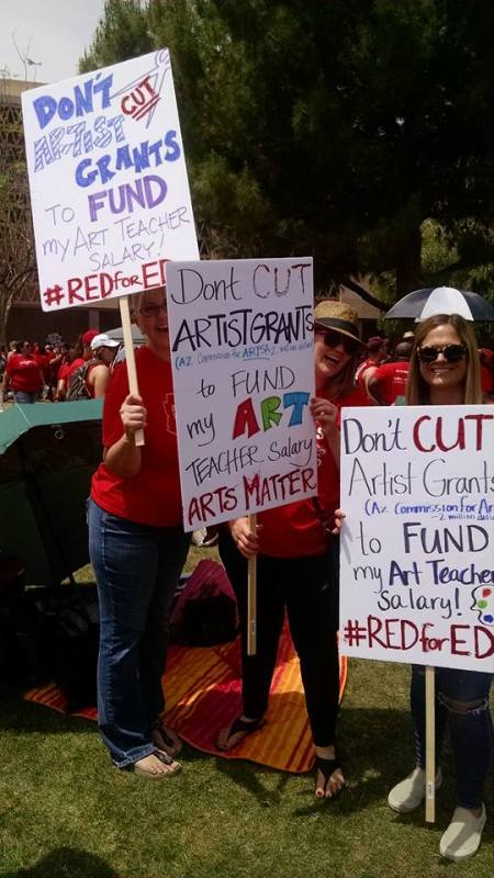Red for Ed Rally
