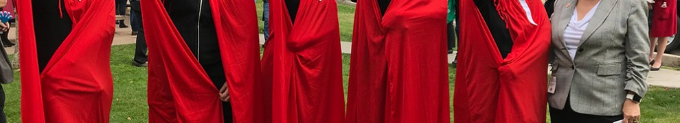 Rep. Pamela Powers Hannley with Handmaids