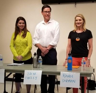 Regina Romero, Steve Farley, and Randi Dorman, Democratic candidates for Mayor of Tucson