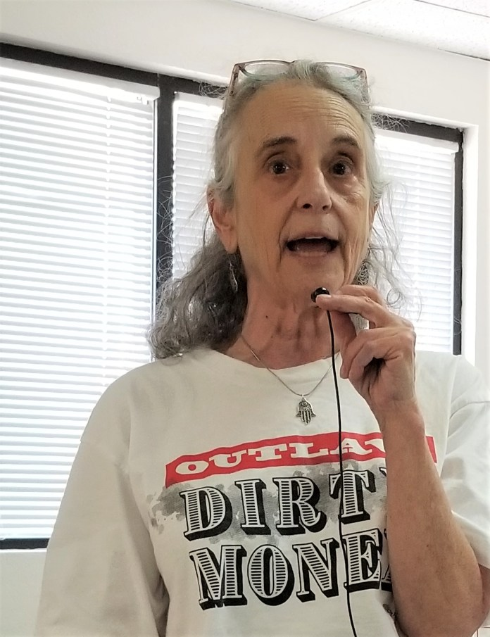 Merrill Eisenberg, the Outlaw Dirty Money Southern Arizona Coordinator