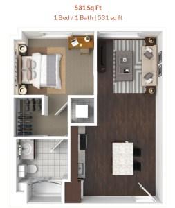 one bedroom apartment Tucson