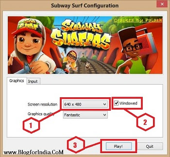 subway surfer game setting