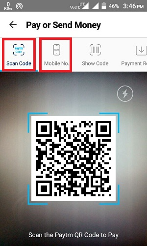 Scan QR Code To Send Money