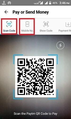 Scan QR Code To Send Money