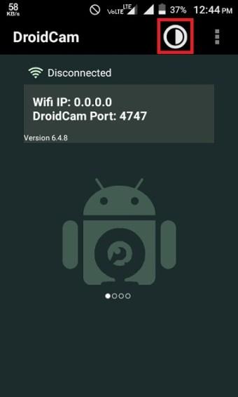 Droidcam app setting