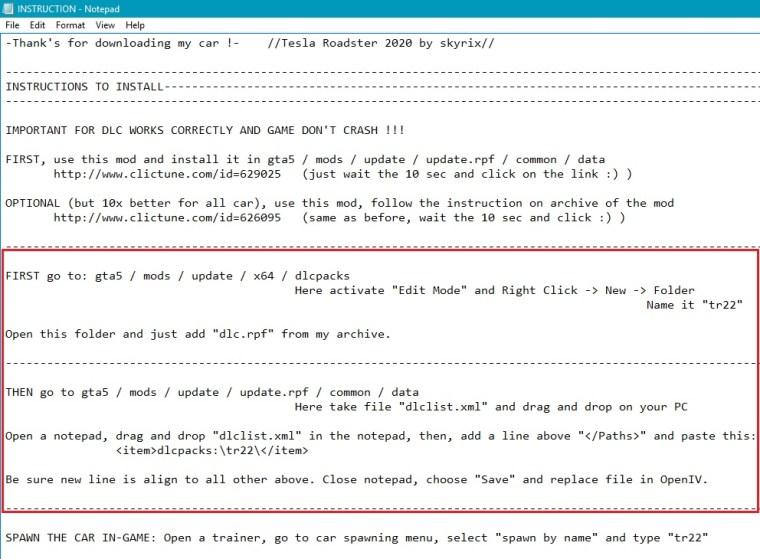 instruction file