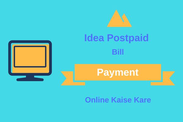 idea postpaid bill payment kaise kare