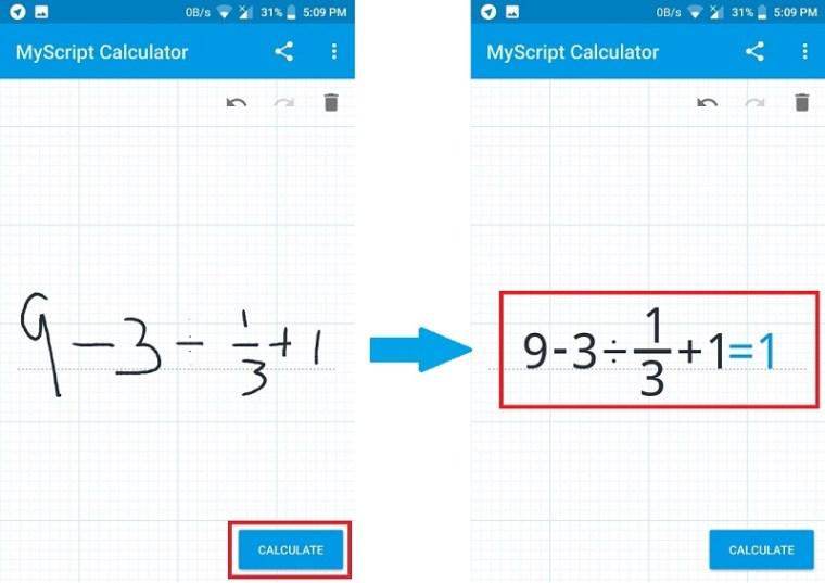 myscript calculator example