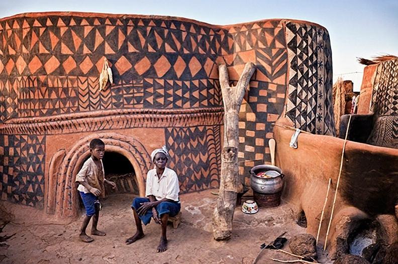 Vivienda Gurunsi Tiébélé, Burkina Faso. @CHICHAenblog 23 Ene 2015