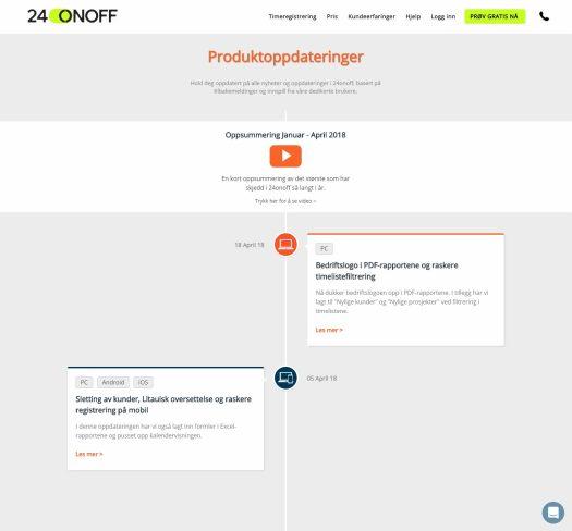 Utklipp-Produktoppdateringer