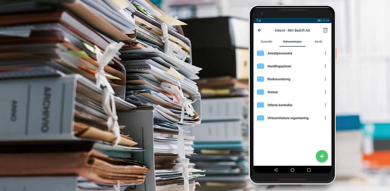 Internkontrollsystem på mobil