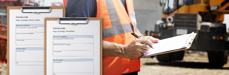 Vernerunde sjekklister ivaretar hms på byggeplassen