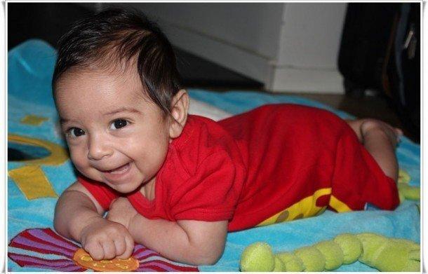 Glad 11 veckors bebis