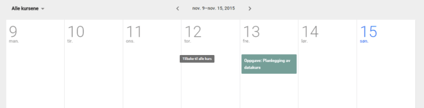 The integrated calendar is a powerful tool.