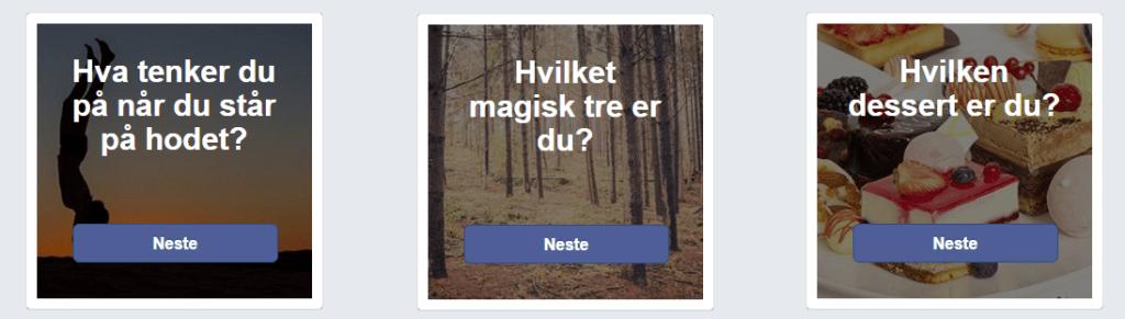 Tar du tester på Facebook?
