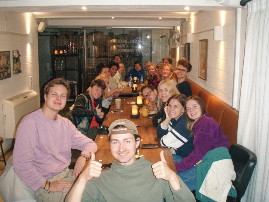 Gjengen klare for frokost i Aalborg! Foto: Håkon Veine Wiig
