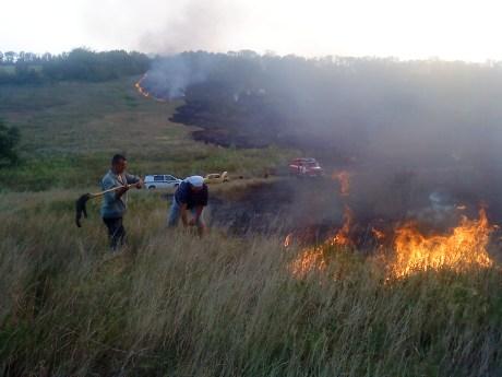 Тушение степных пожаров с Синельниковском районе