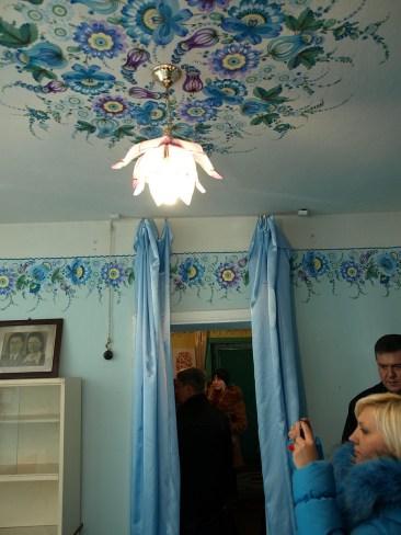 Роспись украинской хаты в с. Петриковка
