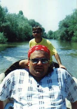 На корме лодки.
