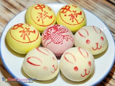 迷你膨餅以中秋、嫦娥、玉兔,相當討喜!