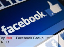most popular facebook groups list
