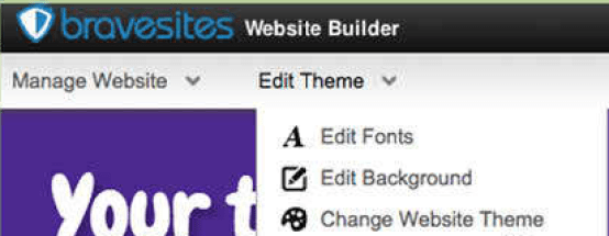 create a website free kids- theme change
