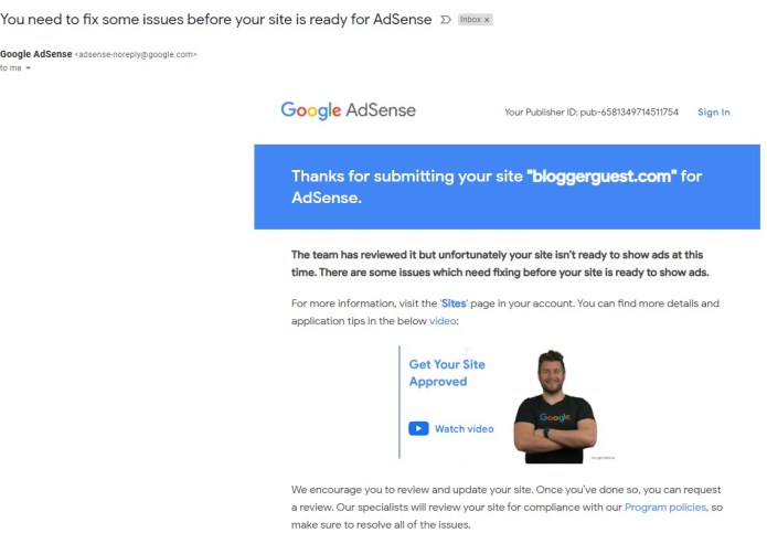 adsense not accepting websites/blogs due to Covid 19