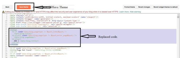 How to remove home page title from blog post title on blogger