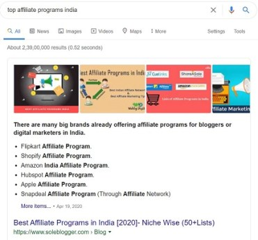 Create a blog to make money using affiliate marketing.