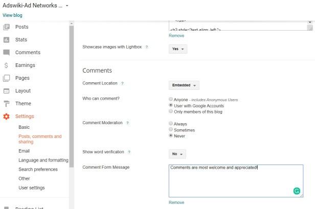 Best catchy comment form messages for blogger/blogspot