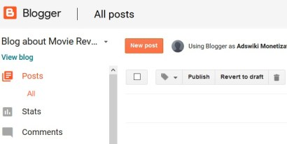 How to create a first post on blogger.com?