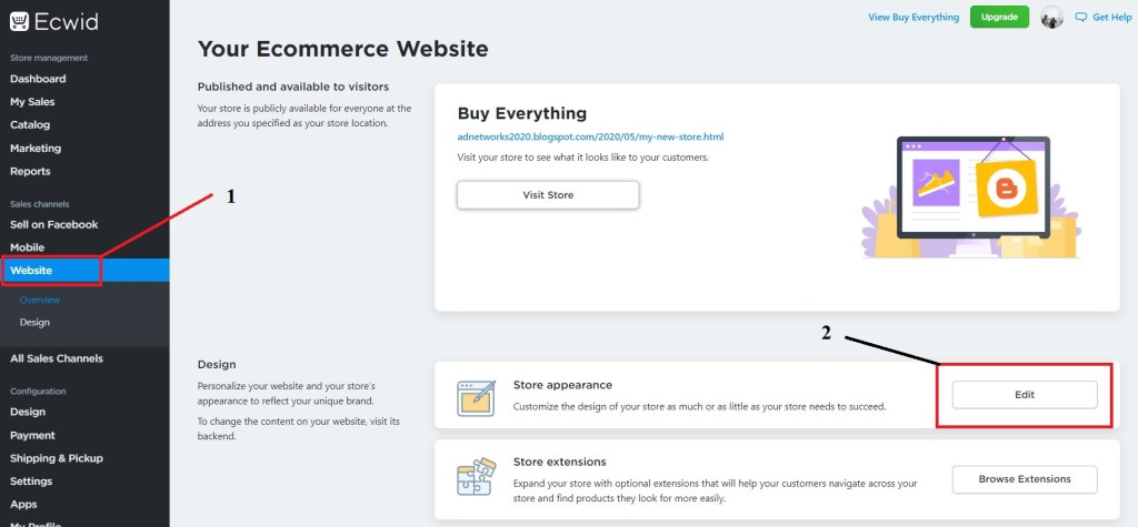create online store in blogger with zero investment.
