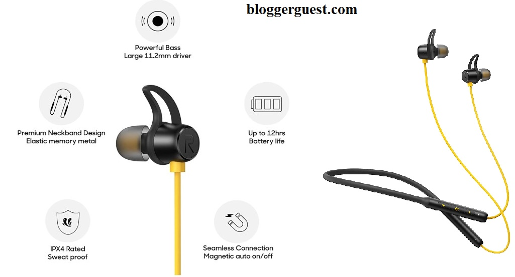 1-Realme Buds Wireless in-Ear Bluetooth with mic - Best Recommended BT Earphone