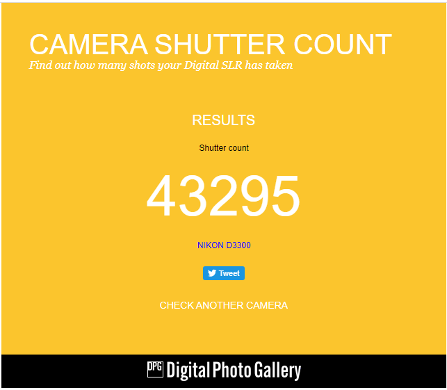 image 13 How to check shutter count of any DSLR camera? Easy Way 3 steps