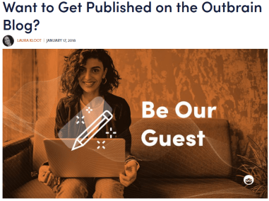 Outbrain-Guest post on high DA/PA website