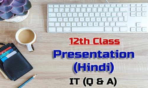 12th Class Presentation