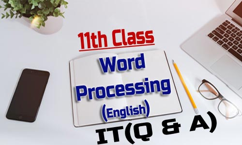 11th Class Word Processing