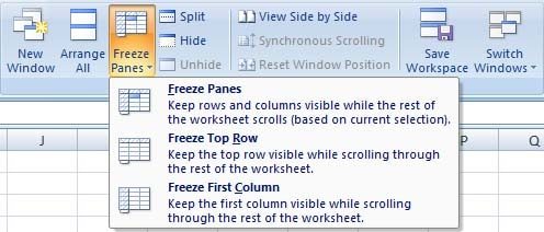 How to Freeze Row and Column