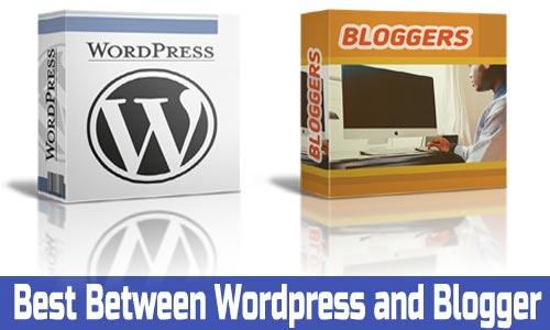 Blogger और wordpress