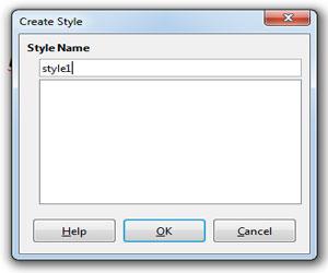 Style Name Box