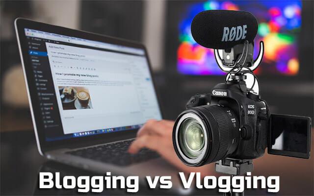 blogging and vlogging