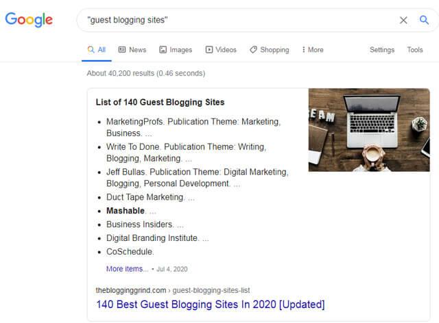 Guest Post Google Techniques