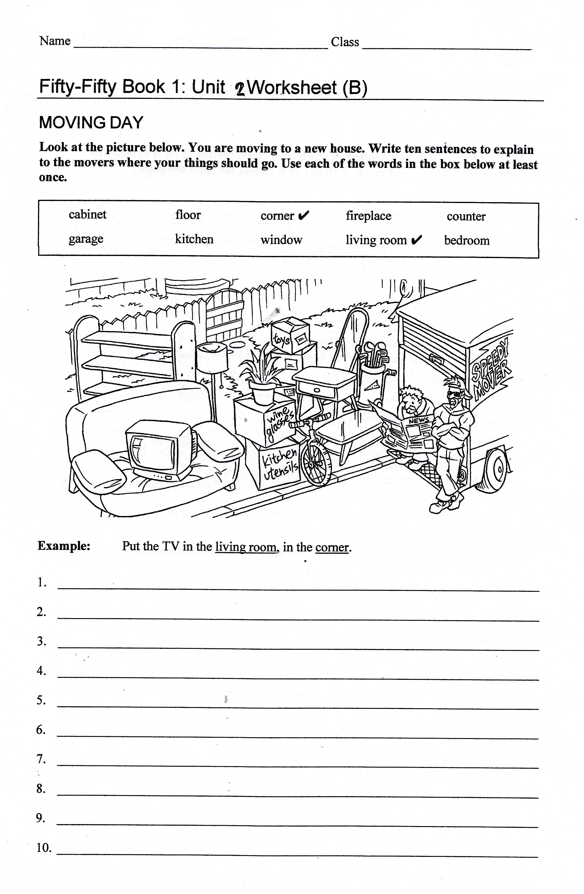 Worksheet Location