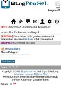 tutorial blogponsel.net cara membuat posting dan kategori 2