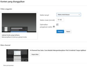 cara mengaktifkan kontent unggulan di youtube creator studio 5
