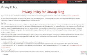 cara membuat halaman privacy policy di blogger maupun wordpress