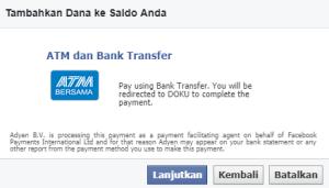 cara mengisi saldo fb ads menggunakan bank lokal 6
